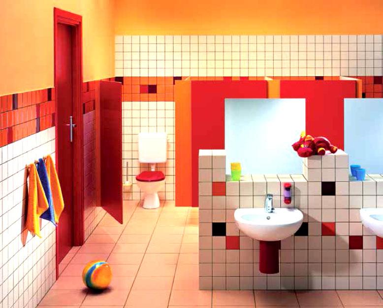 Маленькая раковина украсит интерьер детской ванной комнаты.