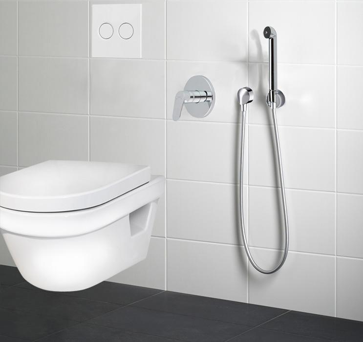 Купить гигиенический душ со смесителем скрытого монтажа хансгрое мебель в ванную фламенко
